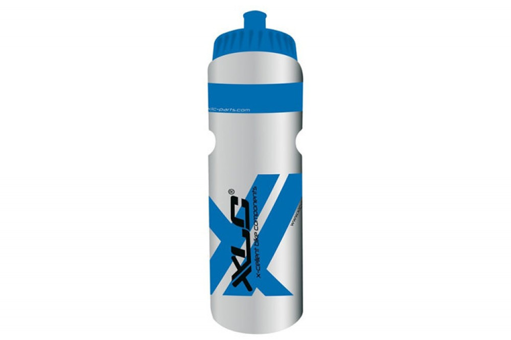 Фляга XLC Water bottle 750ml, transparent/blue/black WB-K02 300