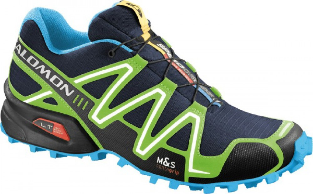 Кроссовки Salomon Speedcross 3 Lake/Fluo Green