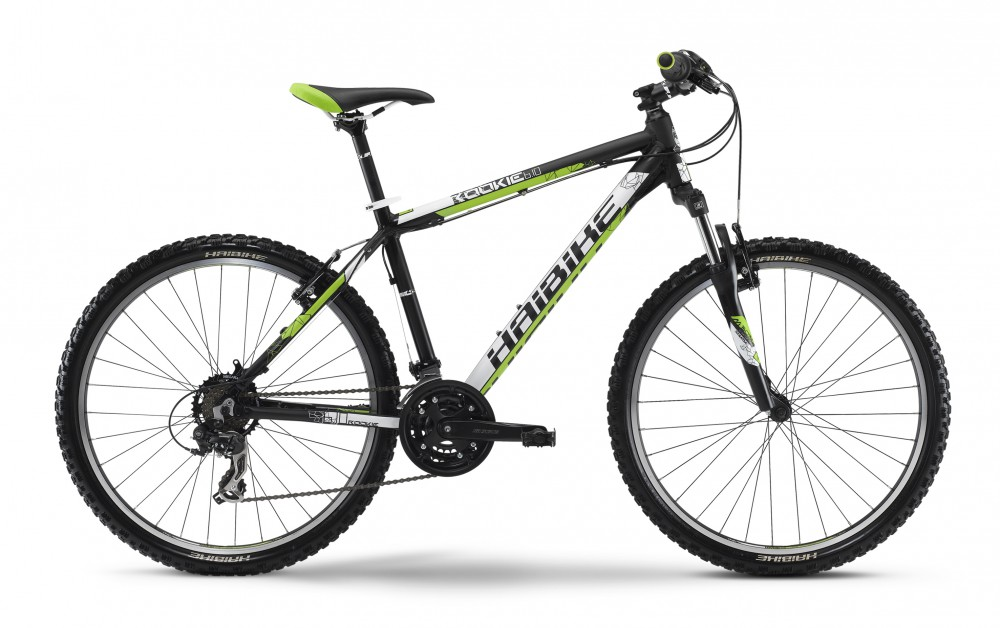 Велосипед HAIBIKE Rookie 6.10 26 black/white/green matt