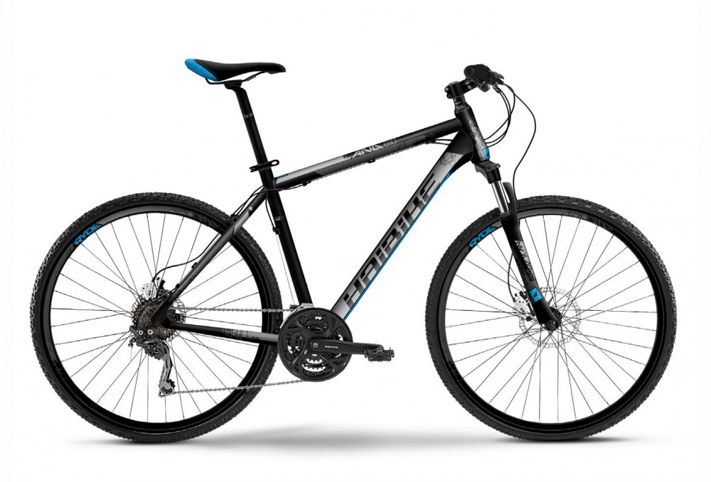 Велосипед HAIBIKE Land 8.10 28 Gents  black/grey/blue matt