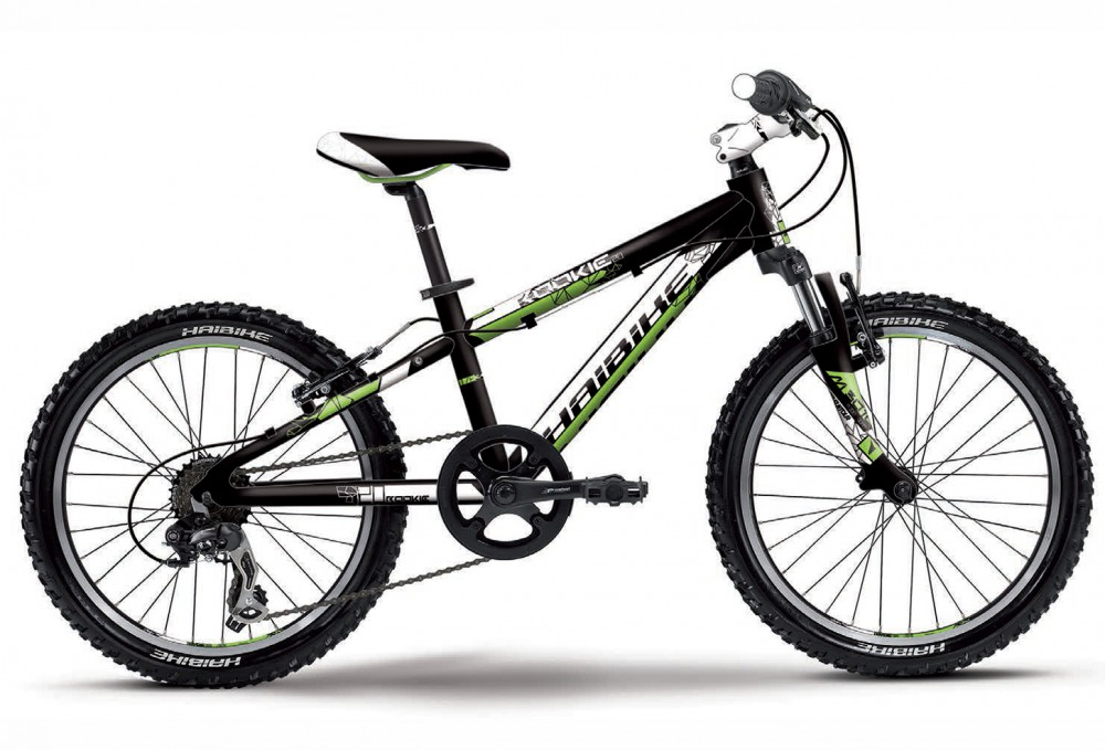 Велосипед HAIBIKE Rookie 20 black/white/green matt